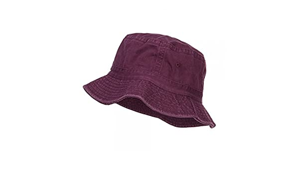 229f9eb5c3e75d Pigment Dyed Bucket Hat-Burgundy -OSFM: Amazon.in: Clothing & Accessories