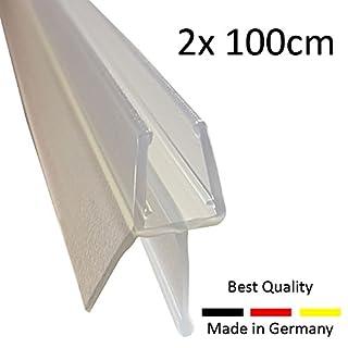 Duschdichtung Dichtleiste 100cm Made in Germany, Dichtung Duschkabine mit Abtropfleiste für 6mm 7mm 8mm Glas Ersatzdichtung