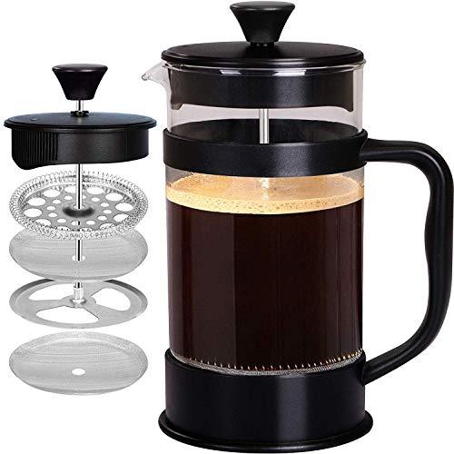 KICHLY [1,0 L/ 1000 ml] Cafetière à Piston | Français presse café - Expresso et bouilloire avec...