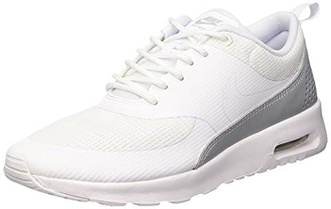 Nike Air Max Thea Textile, Baskets Basses Femme, Blanc (White/White), 36.5 EU