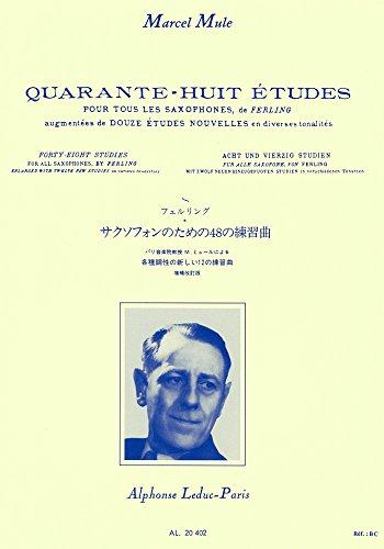 48 Quarante huit études pour tous les saxophones, d'après Ferling par Marcel Mule