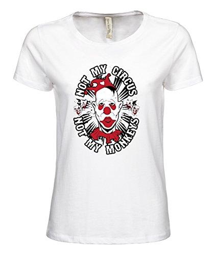 makato Damen T-Shirt Luxury Tee Not Mine White