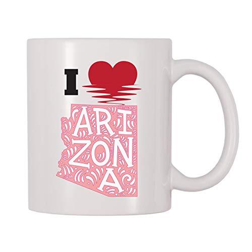 Kaffeetasse 4 All Times I Love Arizona 11 Oz weiß