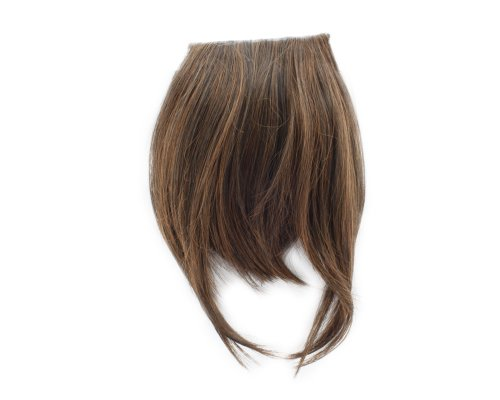1x Clip-In Extensions vorne Haar Bangs Fringe Haarverlängerung Light Brown A (Bang Clip In)