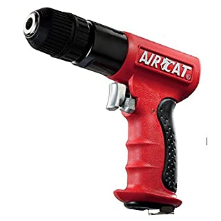 AIRCAT 4338 3/8-Inch Red Composite Reversible Power Drill With Jacobs Chuck by AirCat