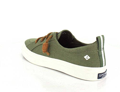 Sperry Top-Sider Crest Vibe Wash Linen Navy, Basses Femme vert olive