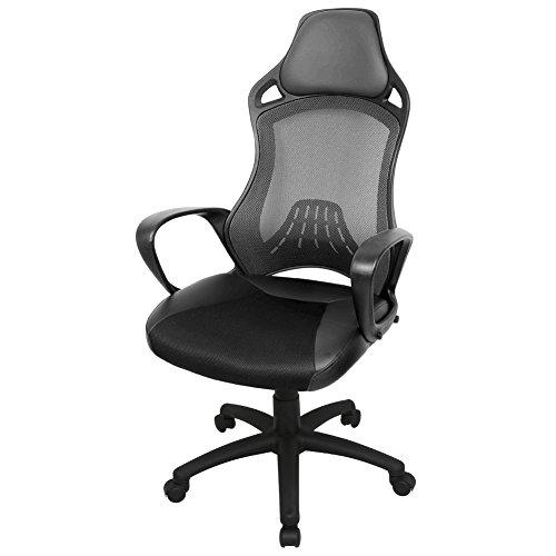 Hoch Rücken Ergonomische Schreibtischstuhl Hoch Rücken Bürostuhl mesh Bürodrehstuhl High Back Chefsessel Schreibtischstuhl hohe ergonomische...
