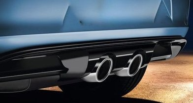 Volkswagen 5G0071611GRU Sport Diffusor R-Look Endrohre mittig Heckdiffusor