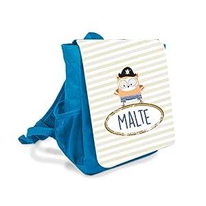 Kinder-rucksack für Jungen mit Namen u. Pirat