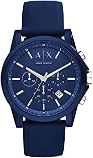 Armani Exchange Men's Stainless Steel Analog-Quartz Watch with Silicone S