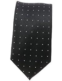 Schmale Krawatte Seide gepunktet gemustert Seidenkrawatte