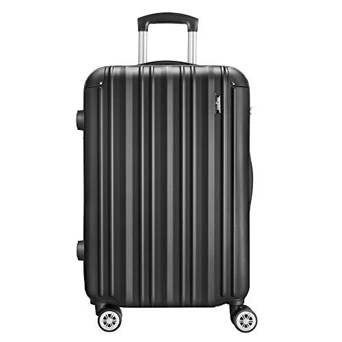 AMASAVA Maletas de Viaje,Maleta Rígida,Maleta Mediano,Candado TSA,67cm,4 Ruedas multidireccional,Negro