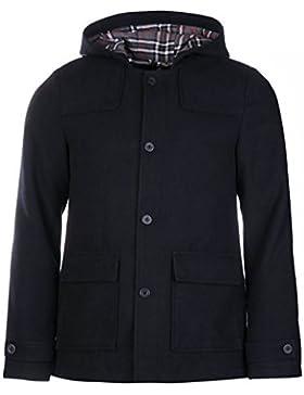Kangol corto Duffle Chaqueta para hombre azul marino chaquetas abrigos Outerwear, azul marino, large