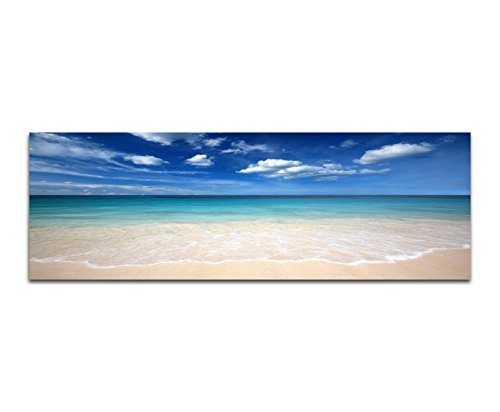 Cartellone–stampa artistica 120x 40cm mare spiaggia di sabbia nube velo