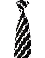 Krawatte von Mailando, mit Streifen, div. Farben schwarz, rot, blau, rosa, …