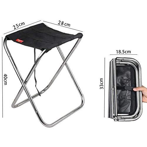 Outdoor Aluminium Stuhl Klapphocker tragbar Angeln Camping, schwarz Camping Stools