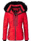 Marikoo Damen Winter-Jacke Steppjacke Snowgirl Rot Gr. S