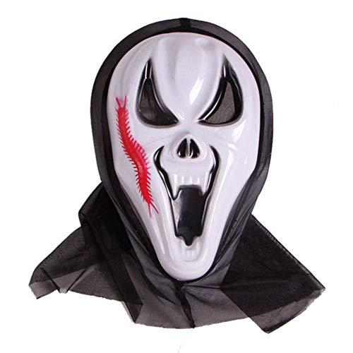 KDGB Maschera di Halloween Horror, Smorfia Cos Puntelli di Palla di Costume, Uomo Diavolo Scheletro (3)