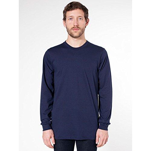 American Apparel Unisex Longsleeve / T-Shirt mit Rundhalsausschnitt, Langarm Marineblau