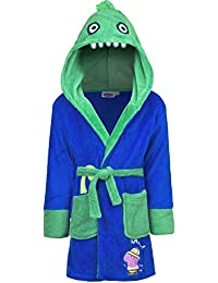 Boys Kids Peppa Pig George Dinosaur Dressing Gown Hooded Robe Size 2 3 4 5 040282dad