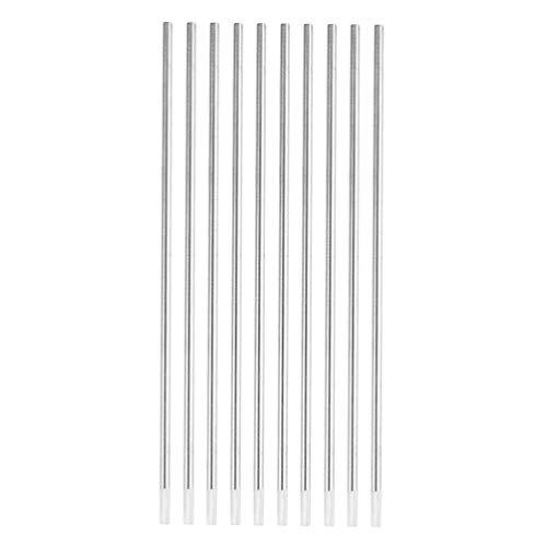 Wolfram-Elektrodenschweißstäbe Weißkopf 10 Stücke Argon-Lichtbogenschweißen Wolfram-Wig-Stab für Schweißgerät -