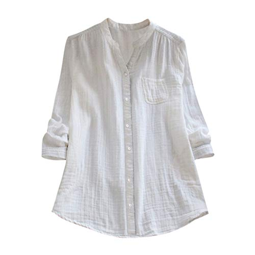 TOPKEAL Oberteil T-Shirt Damen Sommer Elegante Damen Bluse Stehkragen Lange Ärmel Lässige Lose Tunika Frühling Causal Tops Mode 2019