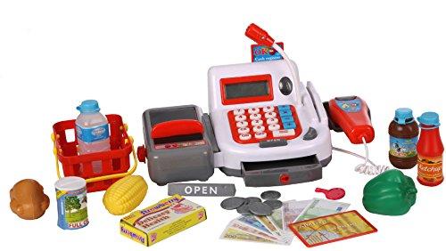 Kasse Scannerkasse für den Kaufladen mit Scanner Laufband Mikrofon Zubehör uvm by Haberkorn