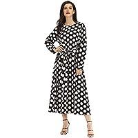 Vestido Largo de Puntos Moda Estilo Streetwear Yesmile ❤ Mujer Vendimia Retro Manga Larga Punto