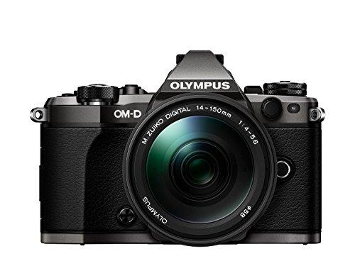 Preisvergleich Produktbild Olympus OM-D E-M5 Mark II Limited Edition Systemkamera (16 Megapixel, 7,6 cm (3 Zoll) TFT LCD-Display, Full HD, HDR, 5-Achsen Bildstabilisator) inkl. 14-150 mm II Objektiv titanium