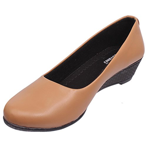 Footshez New Arrival Best Hot Selling Women's Beige Wedge Heel Casual Bellies Low Price Sale  available at amazon for Rs.408