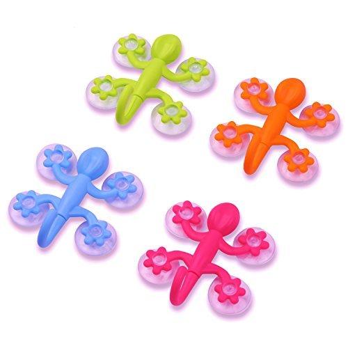 Gecko Power Lock Saugnapf Haken für Badezimmer, Küche, und mehr blue, green, pink, orange -
