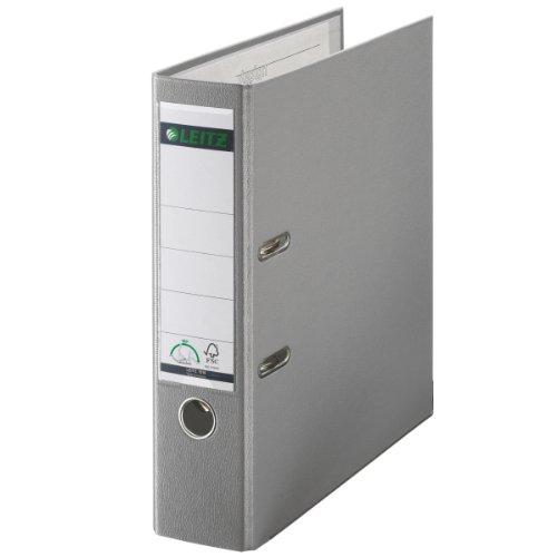 Preisvergleich Produktbild Leitz 10105085 Qualitäts-Ordner Plastik-Cover (A4, 8 cm Rückenbreite) grau