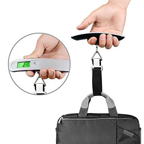 H&Y Gepäckwaagen, tragbare Digitale Reiseskalen-Kofferwaagen-Gewichte mit Tara-Funktion, Kapazität von 50 kg