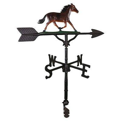 Montague Metal Products Wetterfahne mit farbigem Pferd, 81 cm