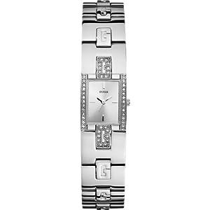 Guess W75059L1 - Reloj para mujeres, correa de acero inoxidable color plateado de Guess