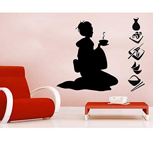 ette KunstWandbilder Home Moderne Spezielle Dekorative Vinyl Neu Wandaufkleber Salon Mädchen Serie 42X50 Cm ()