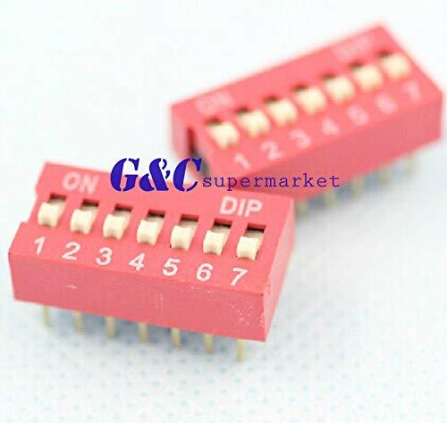 FidgetGear J12-50 interruptores Dip 7 bits 7 Posiciones