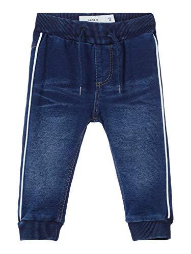 NAME IT Baby-Jungen Hose NBMROMEO DNMTRUEBO 3160 SWE Pant NOOS, Blau (Dark Blue Denim), (Herstellergröße:68)
