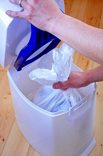 Geruchsdichter Windeleimer Diaper Champ regular silber – für normale Müllbeutel - 9