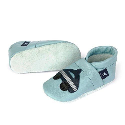 De Couro Hellblau eu Rastejando Sapatos Lauflernschuhe Com Sapatos blau Pantau Polícia Couro Bebê SSvwqB0r
