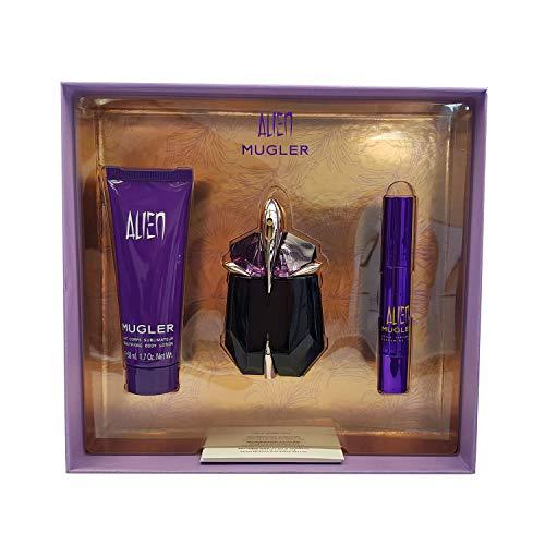 Thierry Mugler Alien 30 mL Eau de Parfum 50 mL Body Lotion mit 3 gr Parfüm Stift, Damen Düfte -