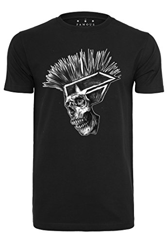 Men's Punks not Dead Tee, Black, S to XXL