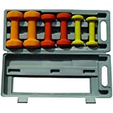 Pre Solid Neoprene 6kg Dumbell Set with ABS Box