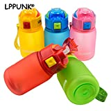 Fiesta Bpa Free 260 ml Kinder Creativo Kunststoff Mio Tragbar Wasser Studner Wasserkocher Bambino Succo von Frutta Typ Paglia Deckel Pop-Up Glasflasche 260 ml, grün