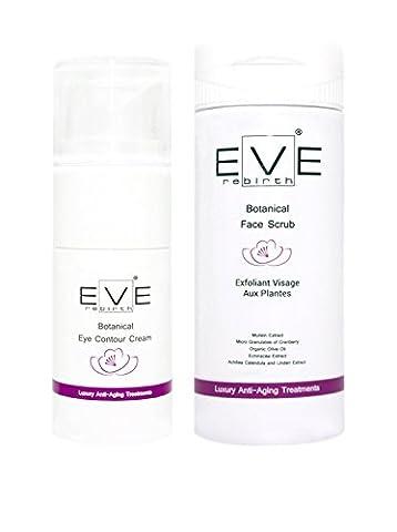 Eve Rebirth Kit Crème Contour des Yeux aux Plantes 15 ml + Exfoliant Visage aux Plantes 125 ml