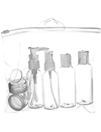Di Grazia Travel Accessories, BPA Free Toiletries Storage Set With Leak Proof Bottles, Refillable Cosmetic Travel...