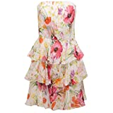 Ralph Lauren 2469X Abito Donna Slim Silk Multicolor Vestito Dress Woman [6/S]