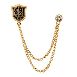 Knighthood Shield And Swarovski Lapel Pin/Collar Pin/ Shirt Stud Brooch for men (New Collection)