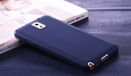 mStick Candy Color Ultra Slim Soft Silicon Back Cover For Samsung Galaxy Note 3 Navy Blue  available at amazon for Rs.99