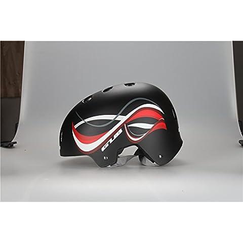 GUB FR Cycling Helmet Mountain Road Bicycle Helmet BMX Extreme Sports Bike/Skating/Hip-hop/DH Helmet BLACK